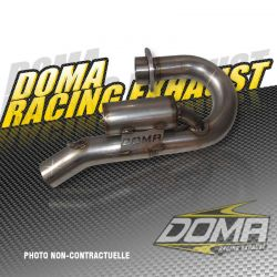 DOMA RACING ALUMINUM ACS MUFFLER FOR DOMA HEAD PIPE YAMAHA YFZ 450 R 2009 - 2019 DIAMETER 60 MM