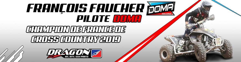 François faucher vainqueur 2019 de quad cross country